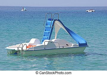 pedal boat at sea