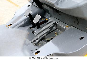 pedal, camión de elevador de carga, acelerador