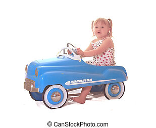 Pedal Car 4016 - little girl in pedal car