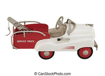 Pedal Car Tow truck - An antique tow truck pedal car