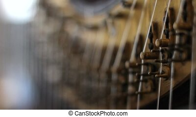 Pedal Harp Focus Shift 1 - Focus shifting on action...