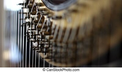 Pedal Harp Focus Shift 2 - Focus shifting on action...