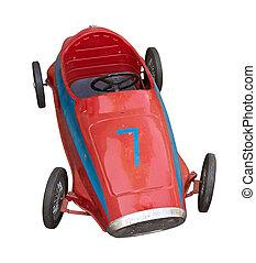pedal, viejo, coche