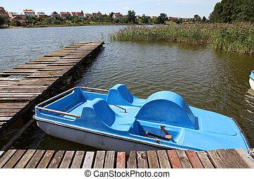 Pedalo - Masuria (Mazury) - famous lake district in Poland....