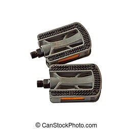 Pedals - Two bike pedals isolated over white background