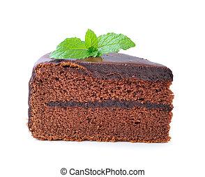 pedazo bizcocho chocolate