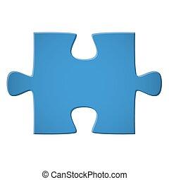 pedazo del rompecabezas, azul