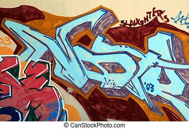 pedazo, grafiti