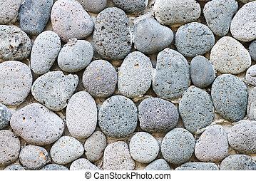 Peddle stone wall - Grey peddle stone wall background