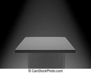 Pedestal - 3d rendered pedestal. Put on exhibition your...