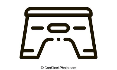 pedestal for baby Icon Animation. black pedestal for baby animated icon on white background