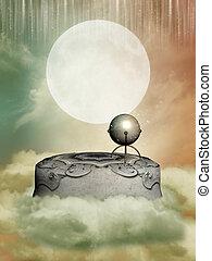 pedestal in the sky