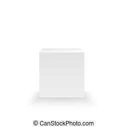 Pedestal isolated on white background