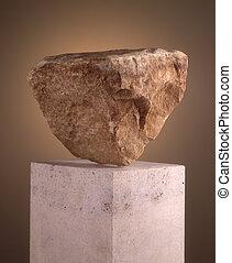 pedestal, rocha