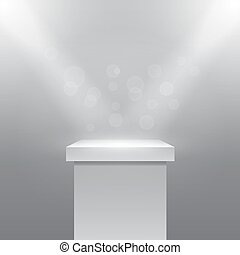 pedestal, vector