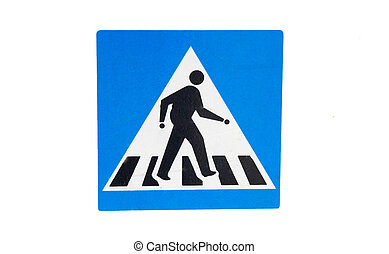Pedestrain crossing sign