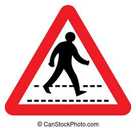 pedestrian 交差の 印