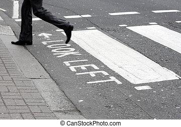 Pedestrian - A business man in London