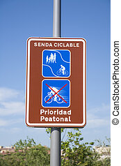 pedestrian and bicycle path signal