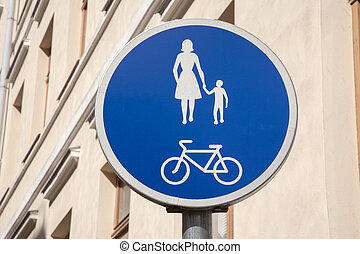 Pedestrian and Bicycle Sign