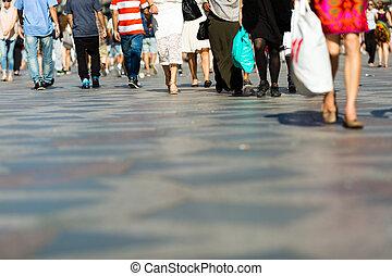 Pedestrian area in the city centre of Copenhagen, Denmark.