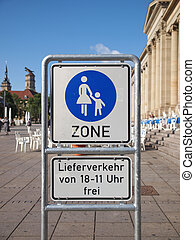 Pedestrian area sign