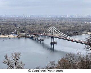 Pedestrian bridge in Kiev, Ukraine