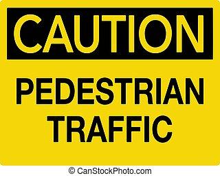 Pedestrian Caution Traffic Sign Vector illustration EPS10