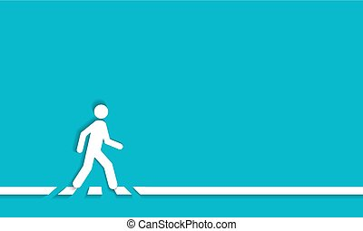 Pedestrian crossing line  crosswalk, vector