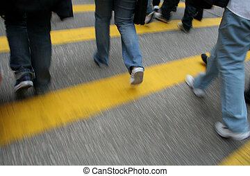 Pedestrian Crossing (Motion blur)