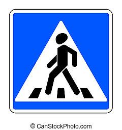 pedestrian crossing sign - Pedestrian crossing sign. Traffic...