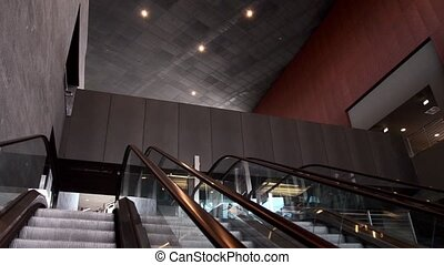 pedestrian escalators