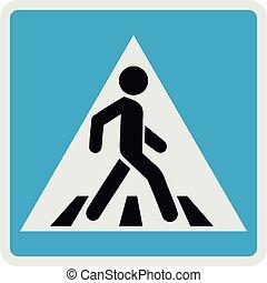 Pedestrian icon, flat style.
