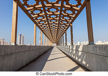 Pedestrian overpass in Kuwait City, Middle East