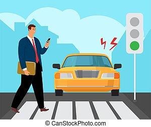 Pedestrian road accident