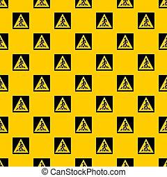 Pedestrian road sign pattern