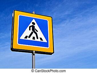 Pedestrian Road Sign