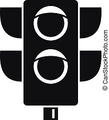 Pedestrian semaphore icon, simple style