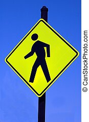 Pedestrian Sign - Photographed a pedestrian sign in Florida.