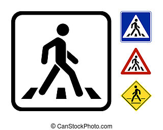 Pedestrian Symbol  Illustration isolated on white background