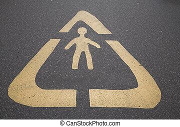 Pedestrian, Symbol Sign