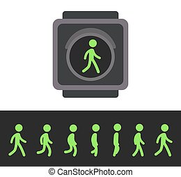 Pedestrian traffic light animation