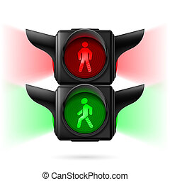 Pedestrian traffic lights