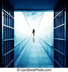 Pedestrian tunnel - The men in the underground pedestrian ...