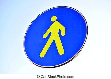 Pedestrian walking