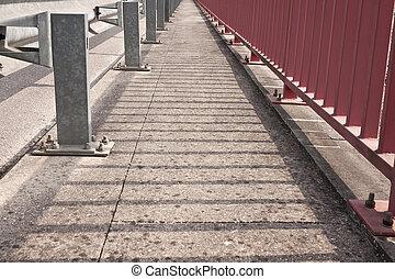Convergence view of Pedestrian Walkway in a bridge