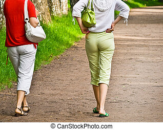 pedestrians at park