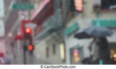 Pedestrians in Chinatown in the rai