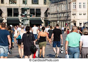 Pedestrians - Pedestrian area in the city centre of ...