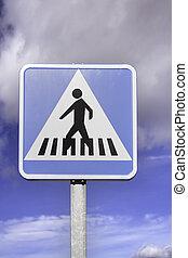 Pedestrians step signal